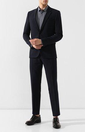 Мужская хлопковая сорочка HUGO темно-синего цвета, арт. 50409850 | Фото 2