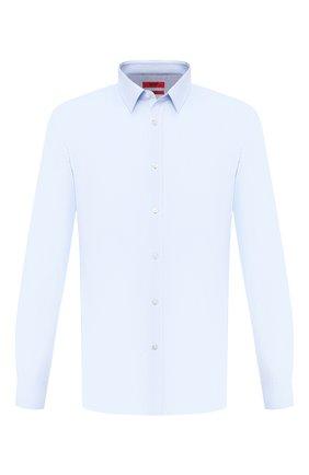 Мужская хлопковая сорочка HUGO голубого цвета, арт. 50409921 | Фото 1