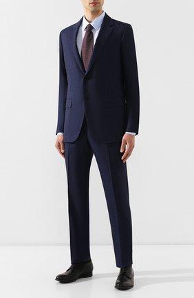Мужская хлопковая сорочка HUGO голубого цвета, арт. 50409921 | Фото 2