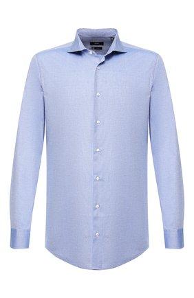 Мужская хлопковая сорочка BOSS голубого цвета, арт. 50410521   Фото 1