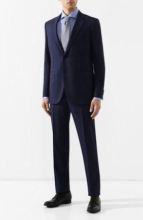 Мужская хлопковая сорочка BOSS голубого цвета, арт. 50410521   Фото 2