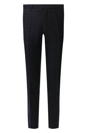 Мужской шерстяные брюки BOSS синего цвета, арт. 50411977   Фото 1
