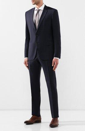 Мужской шерстяные брюки BOSS синего цвета, арт. 50411977   Фото 2