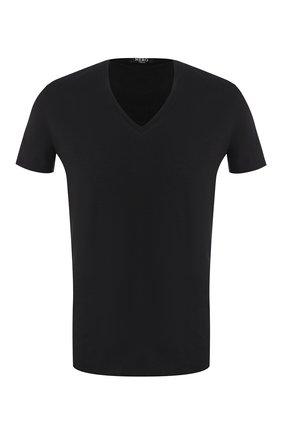 Мужские хлопковая футболка LA PERLA черного цвета, арт. M022169 | Фото 1