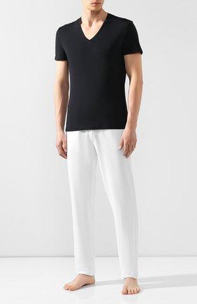 Мужские хлопковая футболка LA PERLA черного цвета, арт. M022169 | Фото 2