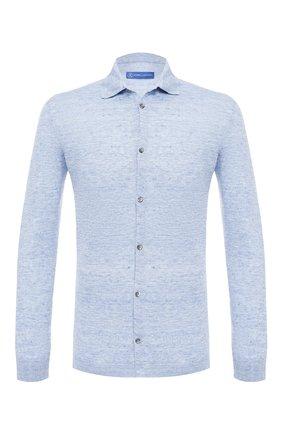 Мужская льняная рубашка ANDREA CAMPAGNA голубого цвета, арт. 57103/24806 | Фото 1