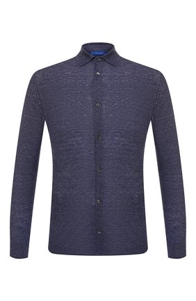 Мужская льняная рубашка ANDREA CAMPAGNA темно-синего цвета, арт. 57103/24806   Фото 1
