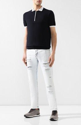 Мужские джинсы KITON светло-голубого цвета, арт. UPNJS/UPNJSL07R68 | Фото 2