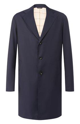 Мужской шерстяное пальто LORO PIANA темно-синего цвета, арт. FAI4952 | Фото 1