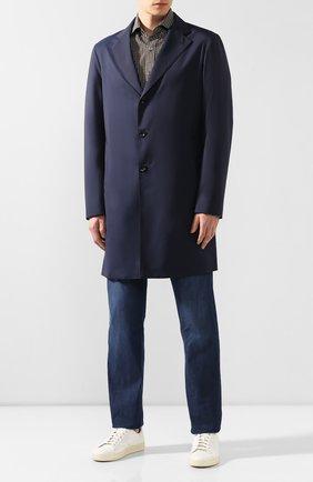 Мужской шерстяное пальто LORO PIANA темно-синего цвета, арт. FAI4952 | Фото 2