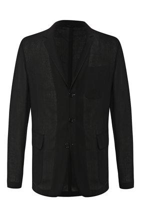 Мужской шерстяной пиджак RALPH LAUREN черного цвета, арт. 798744017 | Фото 1