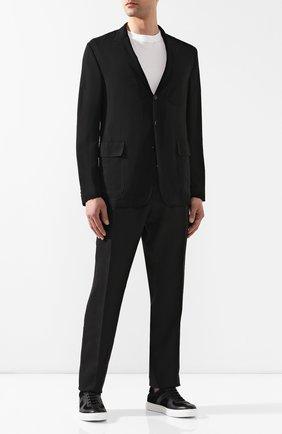 Мужской шерстяной пиджак RALPH LAUREN черного цвета, арт. 798744017 | Фото 2