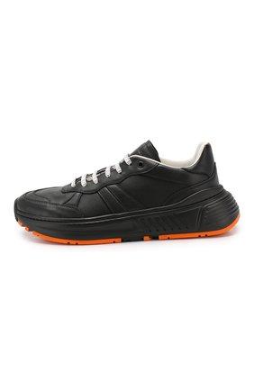 Мужские кожаные кроссовки BOTTEGA VENETA черного цвета, арт. 565646/VT040   Фото 3