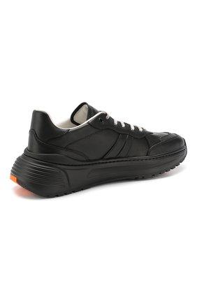 Мужские кожаные кроссовки BOTTEGA VENETA черного цвета, арт. 565646/VT040   Фото 4