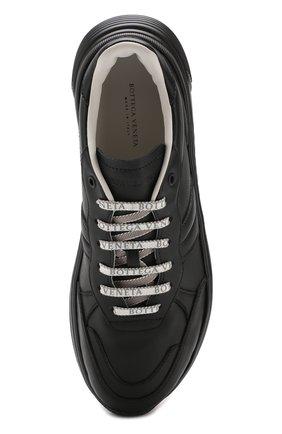 Мужские кожаные кроссовки BOTTEGA VENETA черного цвета, арт. 565646/VT040   Фото 5