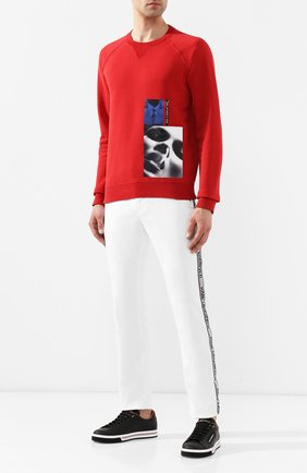 Джинсы Karl Lagerfeld denim белые | Фото №2