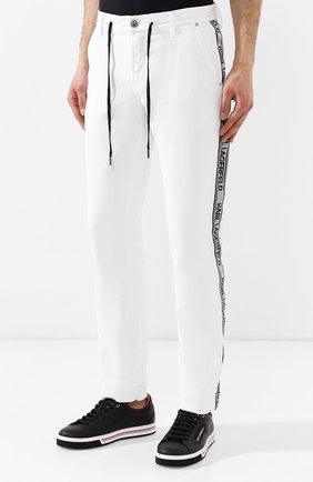 Джинсы Karl Lagerfeld denim белые | Фото №3