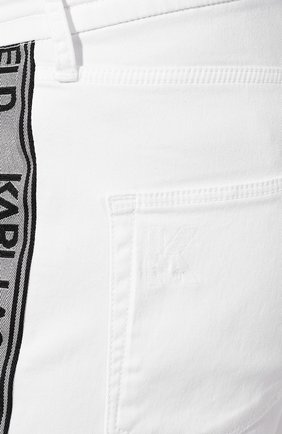 Джинсы Karl Lagerfeld denim белые | Фото №5
