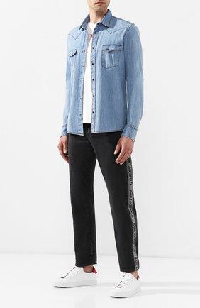 Джинсы Karl Lagerfeld denim темно-серые | Фото №2