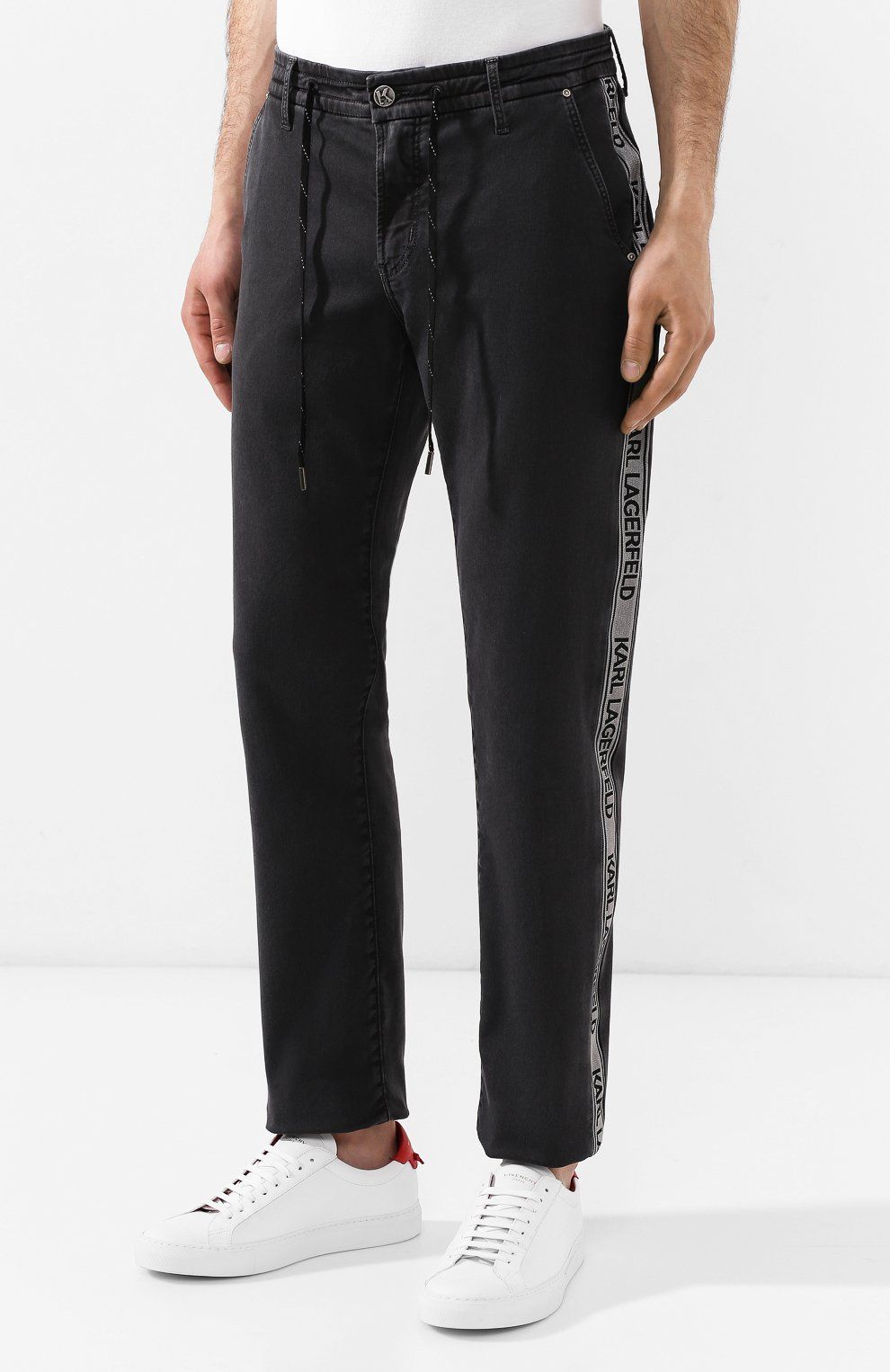 Джинсы Karl Lagerfeld denim темно-серые | Фото №3