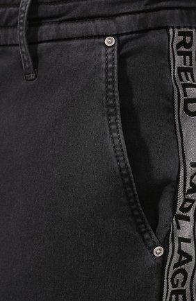 Джинсы Karl Lagerfeld denim темно-серые | Фото №5