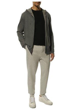Мужская хлопковая футболка KNT черного цвета, арт. UMS0106K06R4 | Фото 2