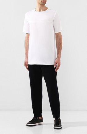 Мужская хлопковая футболка KNT белого цвета, арт. UMS0106K06R4 | Фото 2