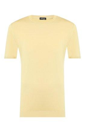 Мужской шелковый джемпер KITON желтого цвета, арт. UK1092 | Фото 1
