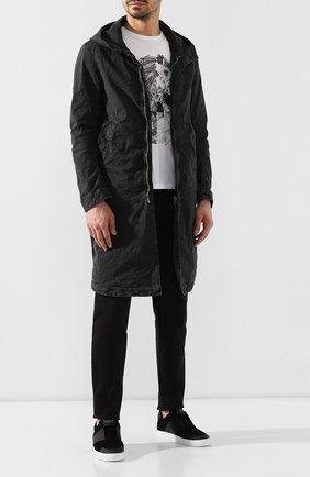 Мужские кожаные кеды bolt 2 HARRYS OF LONDON черного цвета, арт. B0LT 2 N0BLE SUEDE/TECH LEATHER | Фото 2