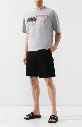 Мужские резиновые шлепанцы BALENCIAGA черного цвета, арт. 565826/W1S80   Фото 2 (Материал внешний: Резина; Статус проверки: Проверена категория, Проверено; Материал внутренний: Текстиль)