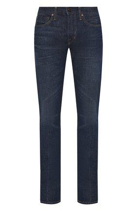 Мужские джинсы TOM FORD темно-синего цвета, арт. BSJ11/TFD002 | Фото 1