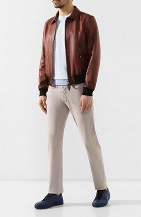 Мужские джинсы TOM FORD светло-бежевого цвета, арт. BSJ17/TFD002 | Фото 2
