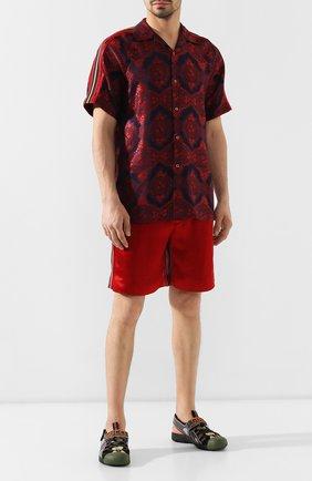 Мужские текстильные сандалии GUCCI темно-серого цвета, арт. 563484/98D10 | Фото 2
