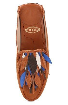 Замшевые сабо Gommino Tod's коричневые | Фото №5