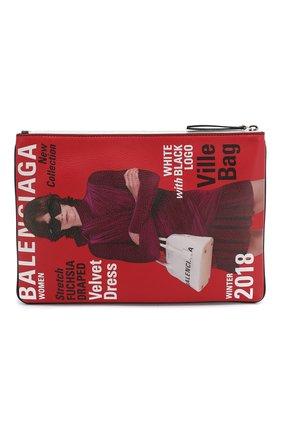 Клатч Supermarket M Balenciaga красного цвета | Фото №1