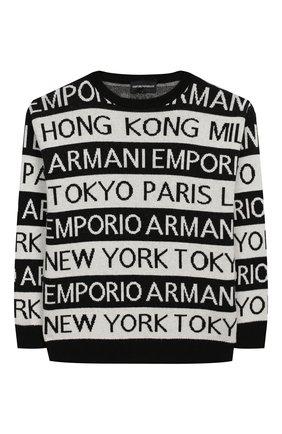 Детский пуловер EMPORIO ARMANI черно-белого цвета, арт. 6G4MYF/4M0NZ | Фото 1