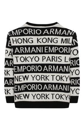 Детский пуловер EMPORIO ARMANI черно-белого цвета, арт. 6G4MYF/4M0NZ | Фото 2