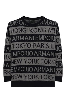 Детский пуловер EMPORIO ARMANI темно-синего цвета, арт. 6G4MYF/4M0NZ   Фото 1