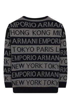 Детский пуловер EMPORIO ARMANI темно-синего цвета, арт. 6G4MYF/4M0NZ   Фото 2
