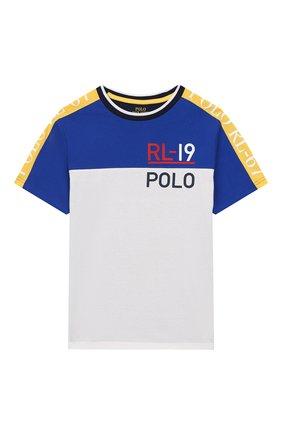 Детская хлопковая футболка POLO RALPH LAUREN разноцветного цвета, арт. 323738511 | Фото 1