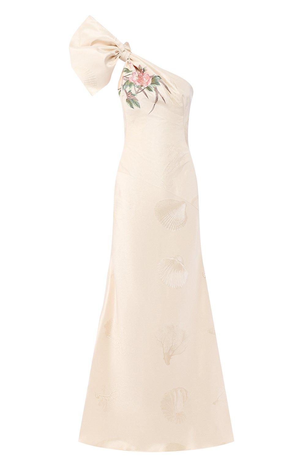 Шелковое платье-макси | Фото №1