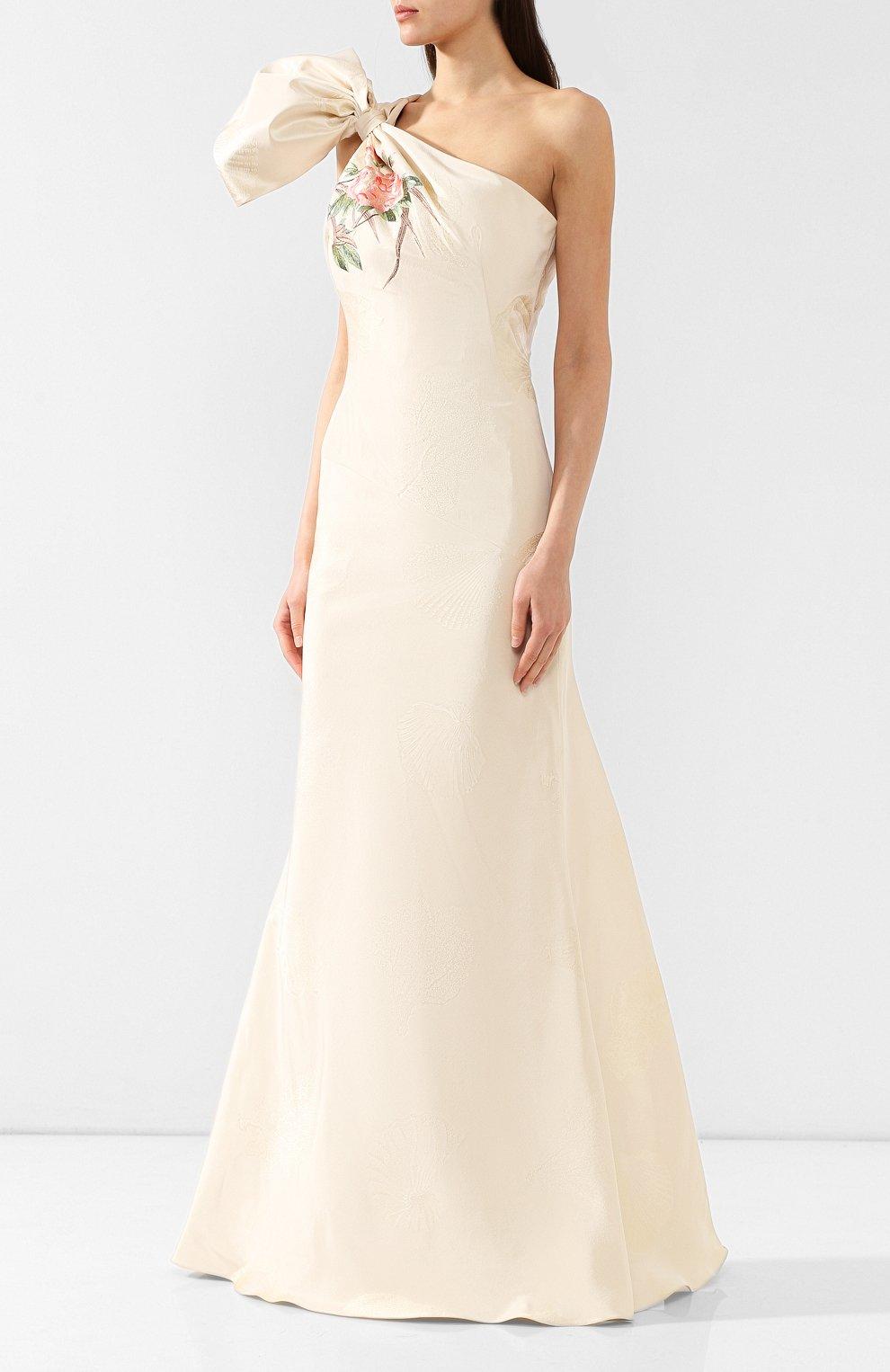 Шелковое платье-макси | Фото №3