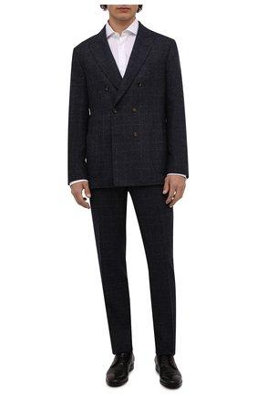 Мужская хлопковая рубашка BRUNELLO CUCINELLI белого цвета, арт. MG6710028 | Фото 2