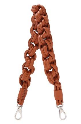 Женские кожаный ремень для сумки TOD'S коричневого цвета, арт. XAWMNGQC000RLX | Фото 1