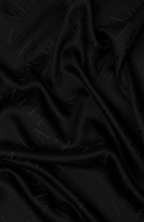 Женская шаль из смеси шелка и шерсти VALENTINO черного цвета, арт. SW2EB104/YWF   Фото 2