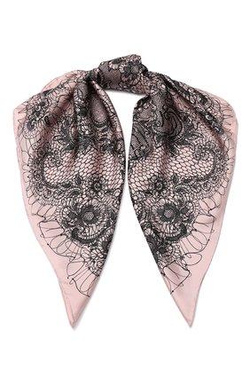 Шелковый платок Valentino розовый | Фото №1