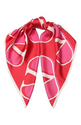 Шелковый платок Valentino красный | Фото №1