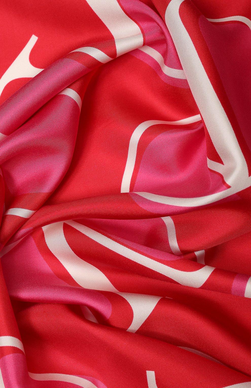 Шелковый платок Valentino красный | Фото №2