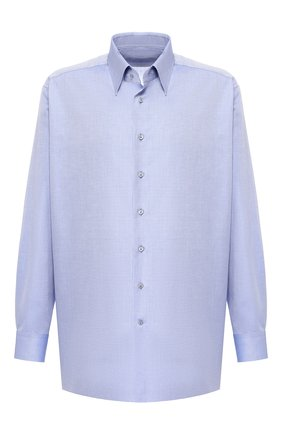 Мужская хлопковая сорочка ZILLI синего цвета, арт. MFR-01076-MERCU/RE01 | Фото 1