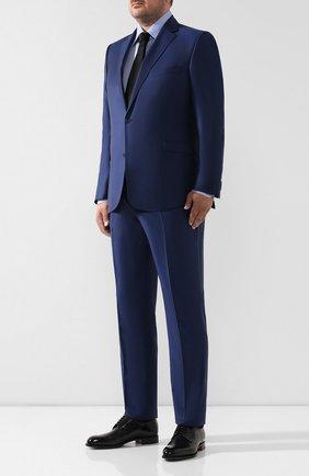 Мужская хлопковая сорочка ZILLI синего цвета, арт. MFR-01076-MERCU/RE01 | Фото 2